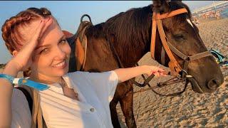 ВЛОГ Мы ПОТЕРЯЛИСЬ ! Как развлечься в Анапе ! Купание лошадей в море ! Ванильная Семья