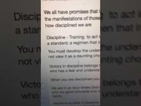 The Power of Discipline & Focus - Victoria Henderson