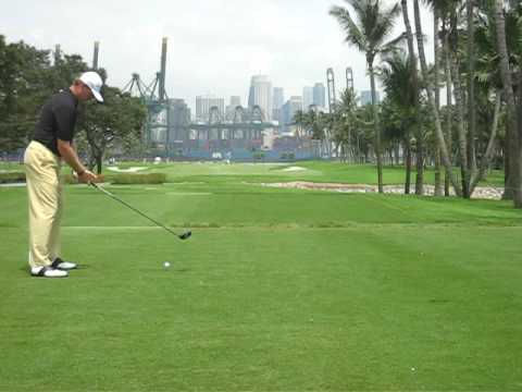 Golf Singapore Open 2008 - Ernie ELS, Jeev Milkha SINGH Drive