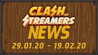 Clash of Streamers News - 19.02.20 - Ep 16 [One tap Streaming, Blockchain on launch, No. 1 streamer]