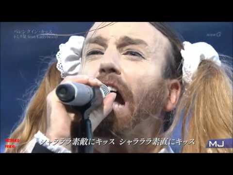 トミタ栞 (Shiori Tomita) feat. Ladybeard - Valentine Kiss @ Music Japan show, Jan 18 2016