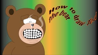 how to draw ted the bear
