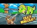 Crazy Minecraft - SECRET TRAP TO TAME BABY DINOSAURS! (Aliens Mod)