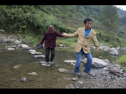 Rural Christians in China receiving Bibles