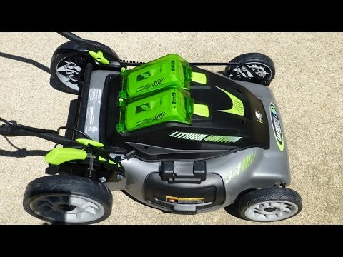 Earthwise 40 volt, 20 inch, 3 in 1, Cordless Electric Lawn Mower