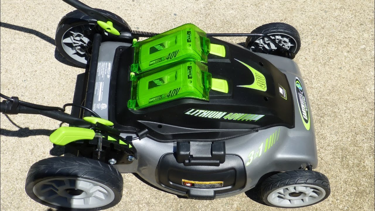 Earthwise 40 Volt 20 Inch 3 In 1 Cordless Electric Lawn