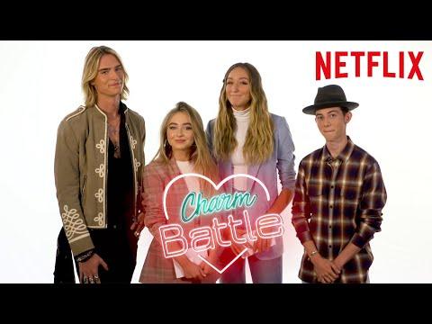 Tall Girl Cast Charm Battle Ft. Ava, Griffin, Sabrina And Luke| Netflix