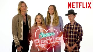 Tall Girl Cast Charm Battle  ft. Ava, Griffin, Sabrina and Luke| Netflix
