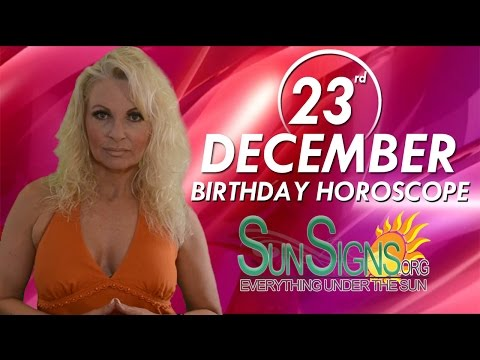 Birthday December 23rd Horoscope Personality Zodiac Sign Capricorn Astrology