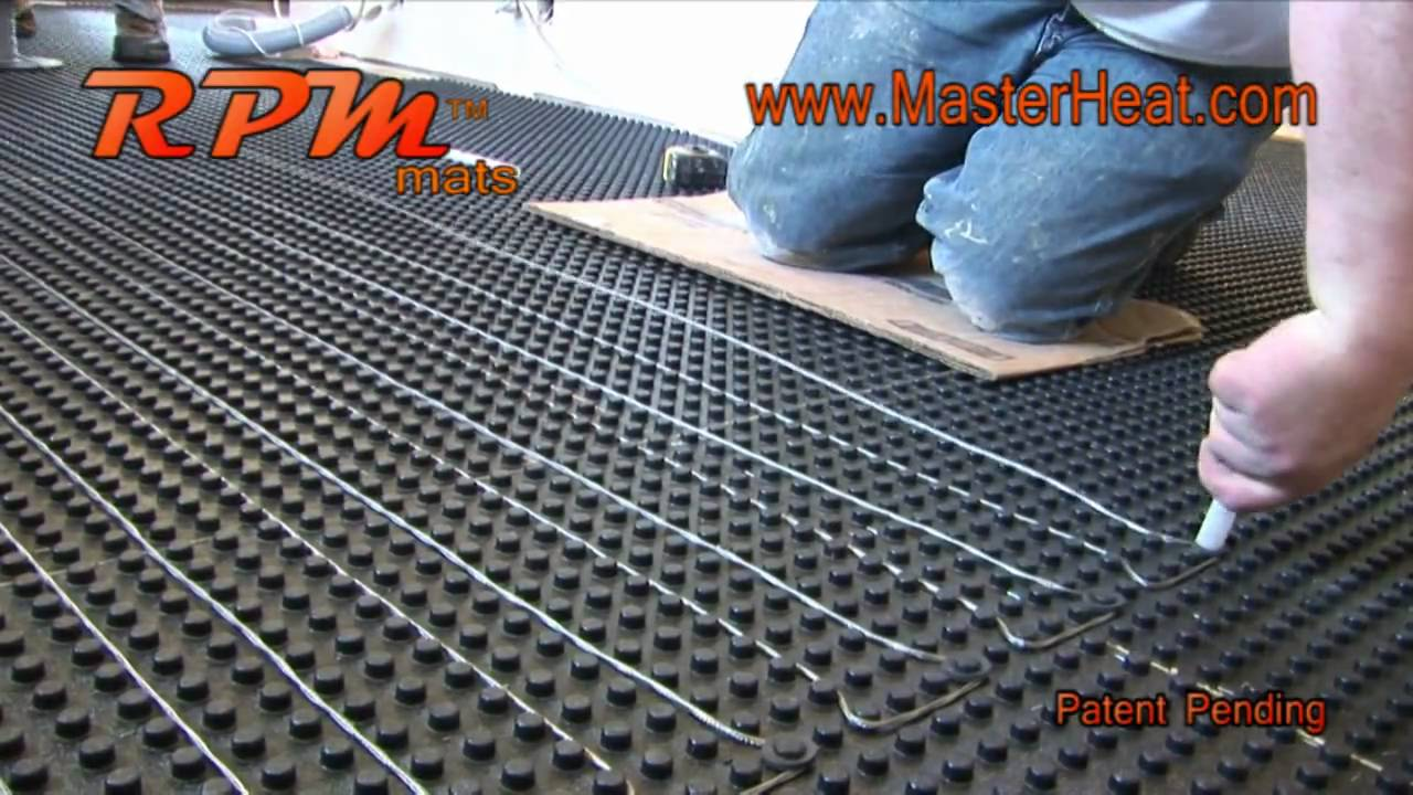 In Floor Heating Radiant Heating RPM DO IT YOURSELF   YouTube