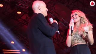 Ilary Blasi nel backstage di Live Red