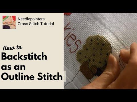 Cross Stitch - Backstitch Outline Stitch