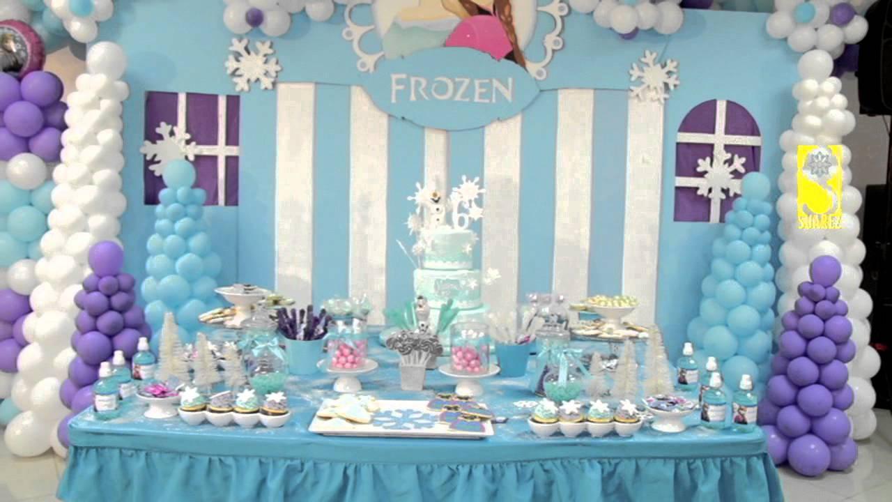 Frozen maeli fiestas decoracion youtube for Decoracion de pared para quinceanera