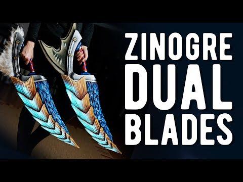 LED Zinogre Dual Blades - Monster Hunter