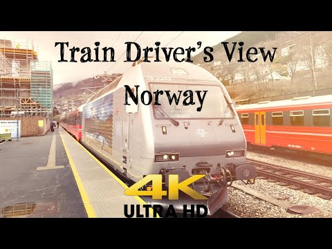 Train Driver's View: Voss to Ål on the Bergen line in 4K ULTRA HD