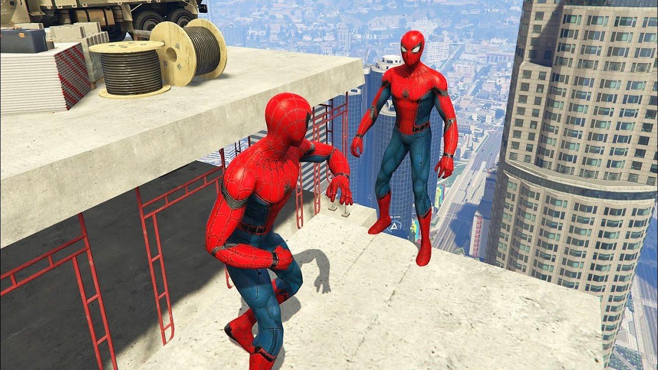 GTA 5 Funny & Epic Ragdolls Spiderman Jumps / Fails (Euphoria Physics, Funny Moments)