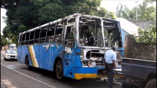 Deux autobus de la CNT prennent feu en pleine rue