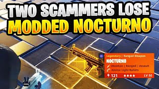 Two Scammers Lose A New 121 Hacked Nocturno! (Scammer Gets Scammed) Fortnite Save The World
