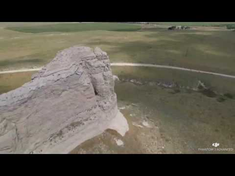 Phantom 3 Over Courthouse and Jail Rock