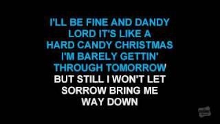 Hard Candy Christmas in the style of Dolly Parton karaoke video with lyrics
