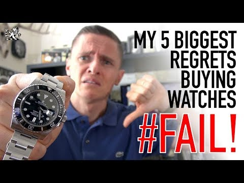 I Wasted Thousands Buying Watches! - My Top 5 Regrets - Rolex, Seiko, Omega & Breitling