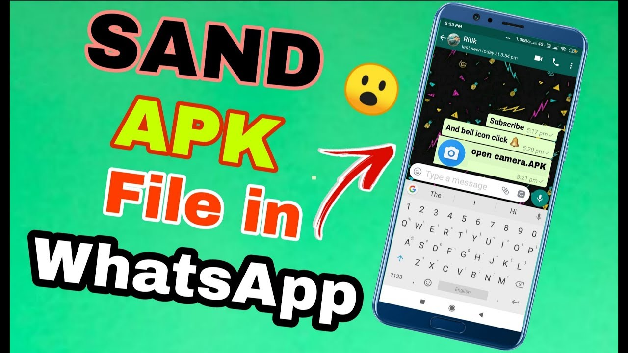 How To send Apps on games on whatsapp || share apk file on whatsapp ||  whatsapp trick in Hindi