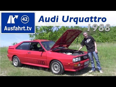 Fahrbericht einer Probefahrt 1988 Audi Urquattro Test Review