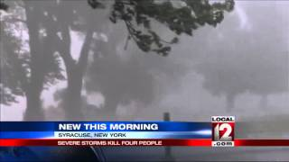 Fierce storms kill 5 in Eastern states