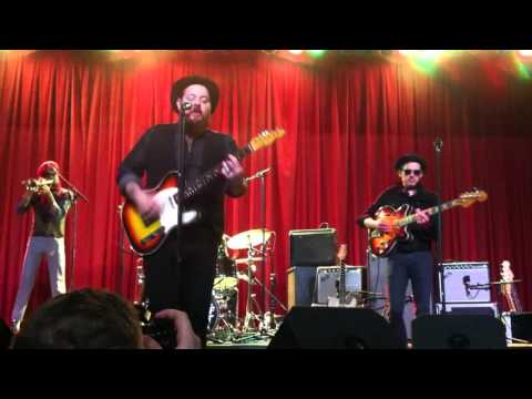 Nathaniel Rateliff and the night Sweats take the stage in Omaha Ne, 12-9-15