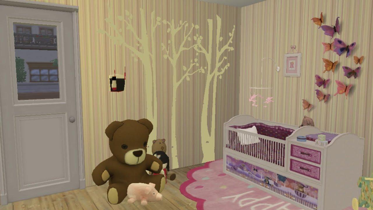 sims4 chambre de b b d co co youtube. Black Bedroom Furniture Sets. Home Design Ideas