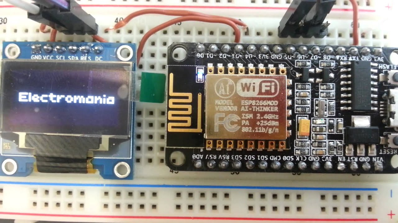 ESP8266 ESP-12E nodemcu V1 0 OLED Display SPI mode using U8Glib