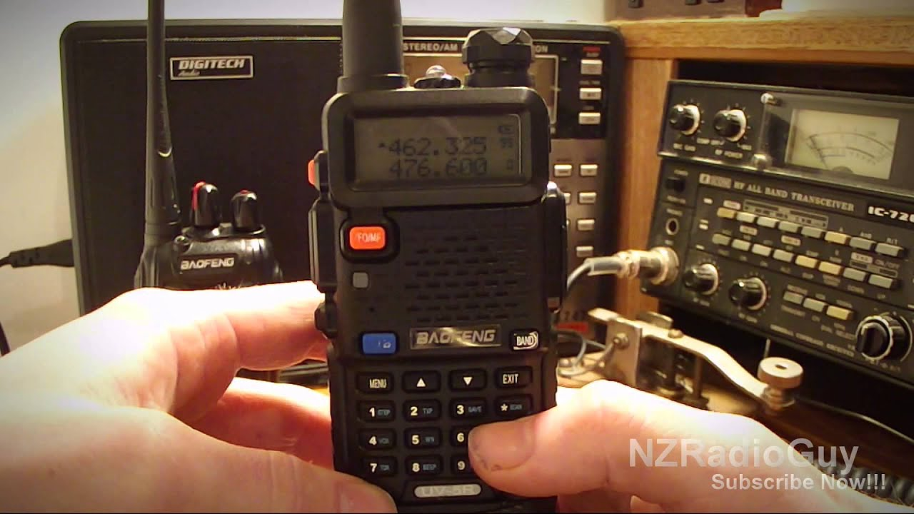 How to program Frequencies into Channels on a Baofeng UV-5R