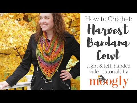 How to Crochet: Harvest Bandana Cowl (Right Handed)
