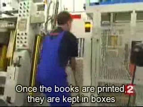 Harry Potter 7 being printed in the dark