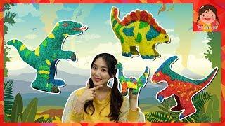 컬러룬 볼 클레이 3D 공룡 풍선 만들기 티라노사우루스 파라사우롤로푸스 트리케라톱스 스테고사우루스 브라키오사우루스 프테라노돈 장난감 [유라]