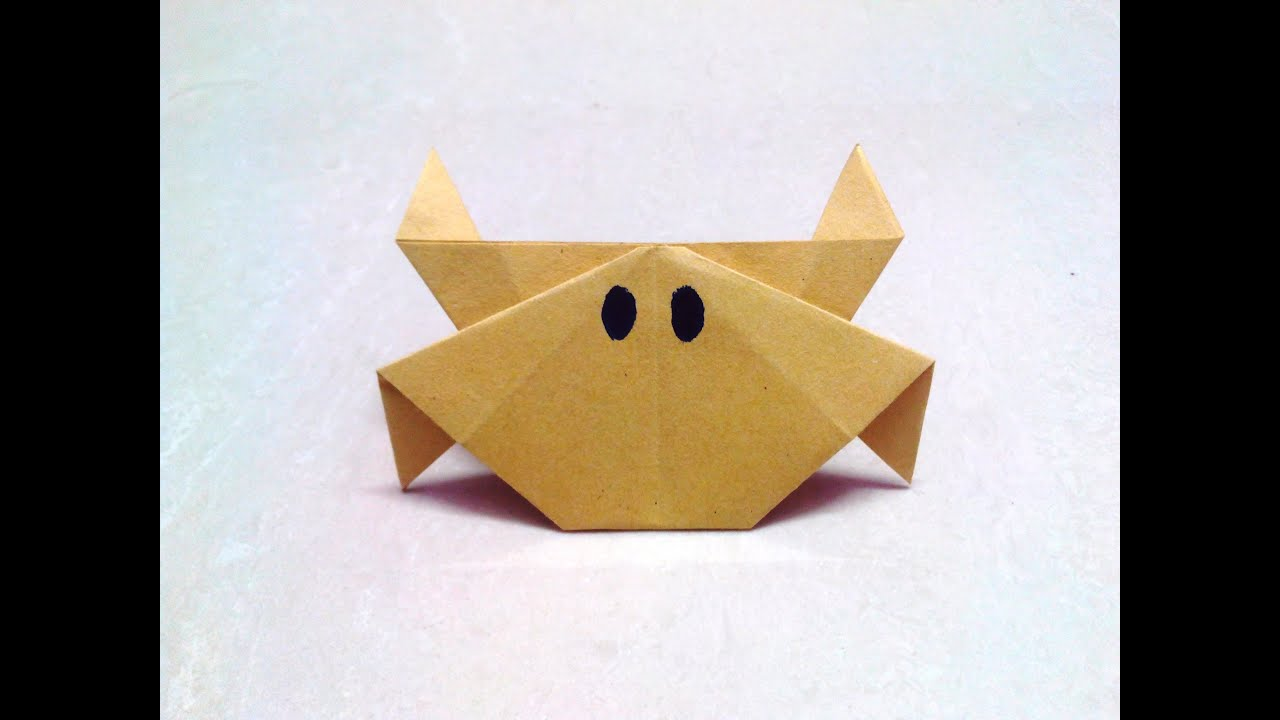 How to make an origami paper crab   Origami / Paper Folding Craft ...