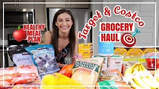 WHAT I BUY AT THE GROCERY STORE // New Target And Costco Grocery Haul And Whats For Dinner