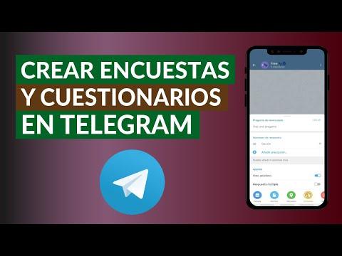 Cómo Crear Encuestas y Cuestionarios en Telegram | Android o iPhone