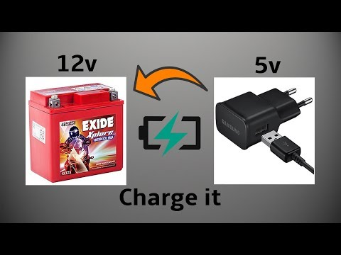 Mobile charger from bike battery