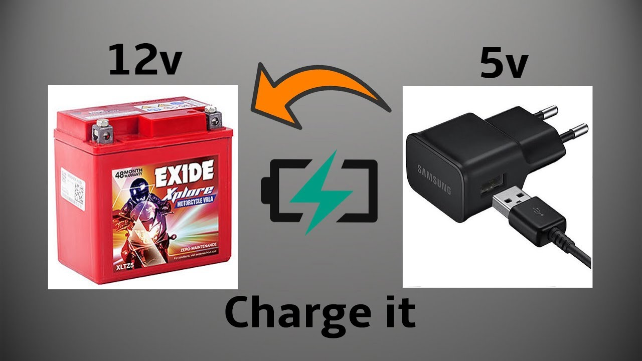 How To Charge 12volt Bike Battery With 5volt Mobile Phone Charger Look At A Typical 24 Volt System 12 Engine Connection Howtomake Diy Craft