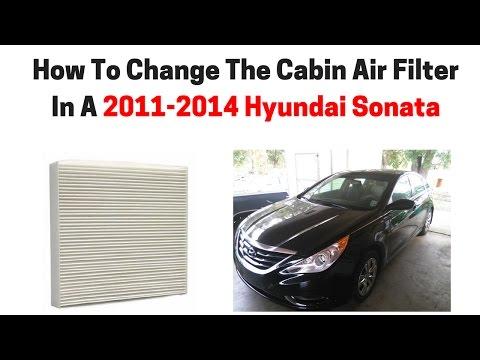 Hyundai Sonata 2011 2014 Cabin Air Filter Check Replace