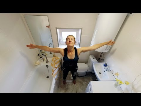 ⚫Tiny BATHROOM 3.2m²! How to fit everything? HOW to build a Cheap House? # 25