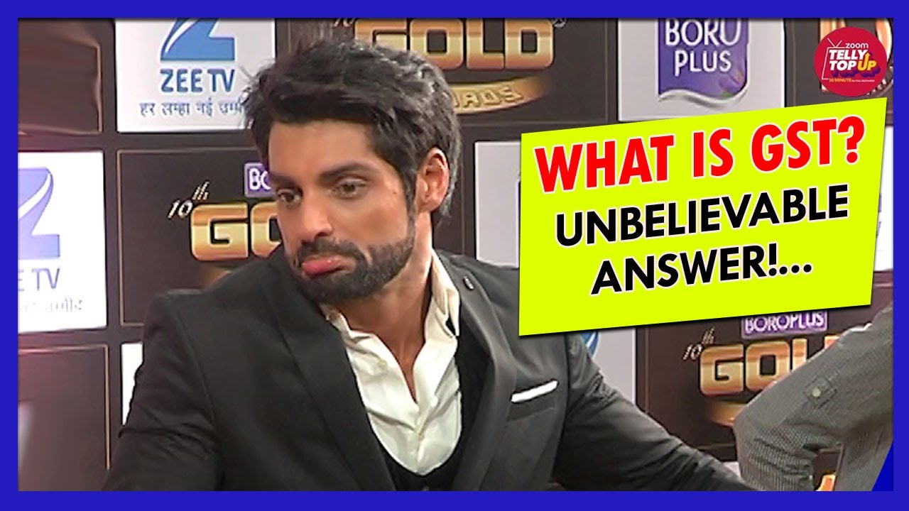 OOPS! Karan Wahi Doesn't Know The Full Form Of GST? - YouTube