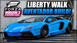 1515HP 273MPH LIBERTY WALK AVENTADOR CRUISE BUILD!!! | Forza Horizon 3 Custom Cars #40
