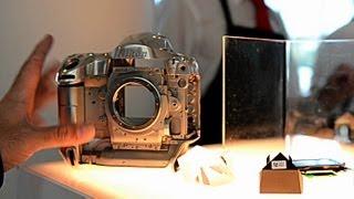 Nikon D4 frame, pentaprism and image sensor