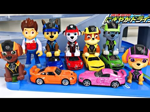 Thumbnail: Best Toddler Learning Colors Paw Patrol Hot Wheels Cars for Kids Teaching Colours Tomica Highway Set