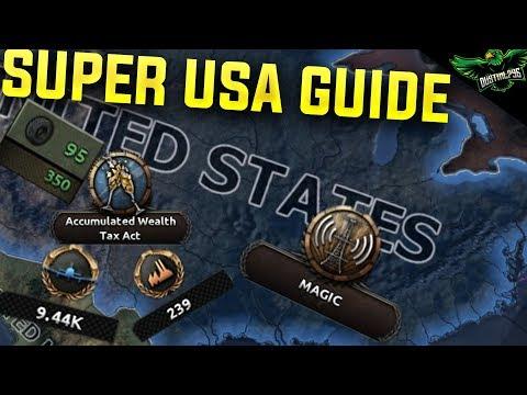 HOI4 USA Guide (Hearts of Iron 4 Man the Guns america Guide) |