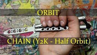 Нож-бабочка. Балисонг трюки - флиппинг средний уровень #1. Orbit, Chain (Y2K - Half Orbit)