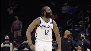 James Harden Hits Clutch Three To Cap Off 24-PT Comeback Win Against Suns