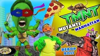 Michelangelo plays TMNT Mutants in Manhattan! (FGTEEV Teenage Mutant Ninja Turtles BEBOP Boss Fight)